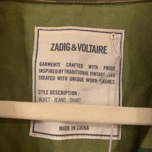 Zadig & Voltaire Jackets & Coats - NWT Zadig & Voltaire Kaleno Camou SPI, L